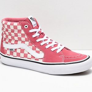 Vans Sk8-Hi Pro Desert Rose Checkerboard High Tops